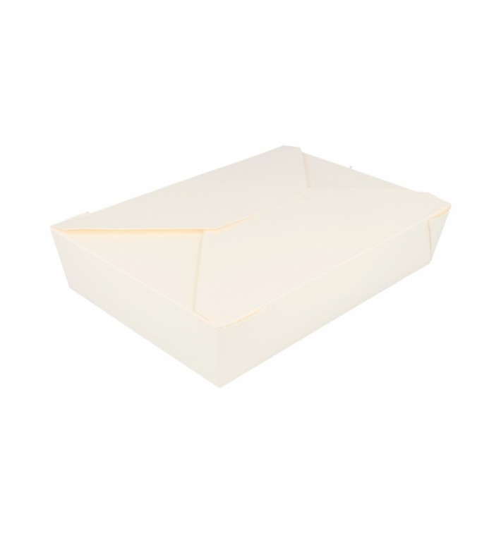 "Paper Take-out Container ""American"" White 1,97x1,40x0,46cm 1000ml (200 Units)"
