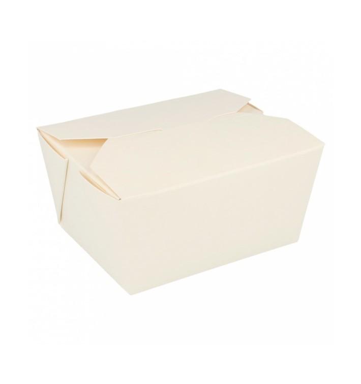 "Paper Take-out Container ""American"" Black 1,97x1,40x0,46cm 1000ml (160 Sztuk)"