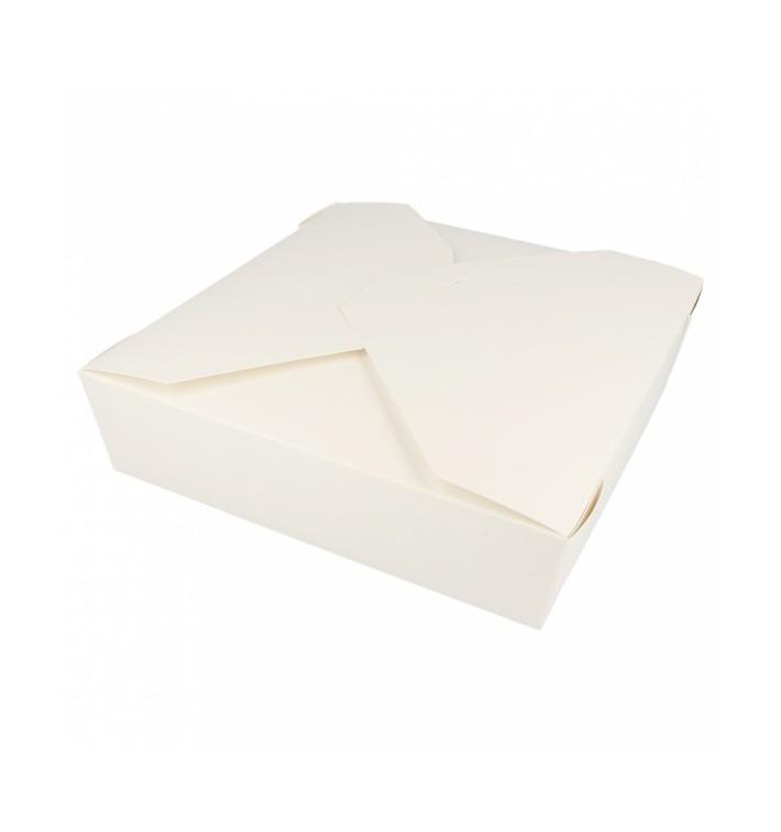Pudełka na Wynos Kartonowe Amerykanin Białe 21,7x21,7x6cm 2910ml (140 Sztuk)