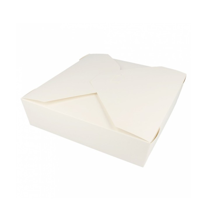 Pudełka na Wynos Kartonowe Amerykanin Białe 21,7x21,7x6cm 2910ml (35 Sztuk)