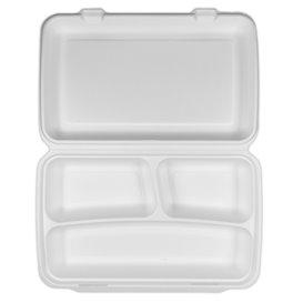 Opakowania MenuBox Trzciny Cukrowej Białe 3C 380x483x61,5mm (50 Sztuk)