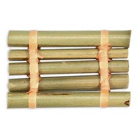 Tacki Finger Food Bambusowe - Opakowanie na wynos Tratwa 8x5cm (24 Sztuk)