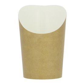 Kubki Jednorazowe Tłuszczoodporny Kartonowe Kraft Średnie (55 Sztuk)