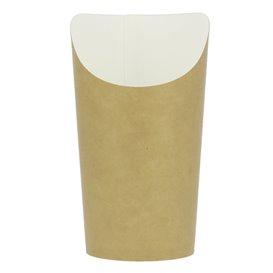 Kubki Jednorazowe Tłuszczoodporny Kartonowe Kraft Duży (55 Sztuk)