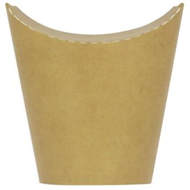 Kubki Tłuszczoodporny Kartonowe Kraft z Klejącą 14Oz/420ml (50 Sztuk)