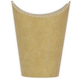 Kubki Tłuszczoodporny Kartonowe Kraft z Klejącą 16Oz/480ml (50 Sztuk)