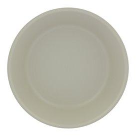 Talerz Plastikowe Płaski Białe Round PP Ø185mm (6 Sztuk)
