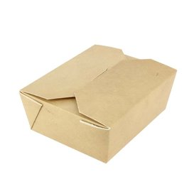 Paper Take-out Container with Window Kraft 12x12x5cm (250 Units)