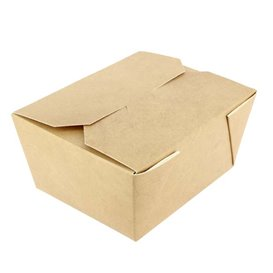 Paper Take-out Container with Window Kraft 14x14x5cm (250 Units)