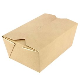 Paper Take-out Container with Window Kraft 19x19x4cm (45 Sztuk)
