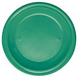 Talerz Plastikowe PS Głębokie Zielone Ø220mm (30 Sztuk)