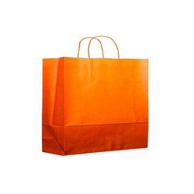 Torby Papierowe Orange z Uchwytami 80g 20+10x29 cm (25 Sztuk)