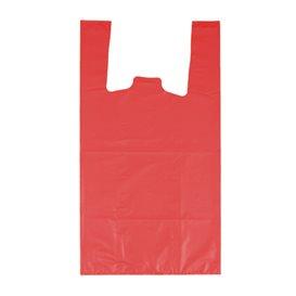 """Plastikowa torba na koszulki 70% z Recyklingu """"Colors"""" Czerwony 42x53cm 50µm (40 sztuk)"""