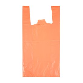 """Plastikowa torba na koszulki 70% z Recyklingu """"Colors"""" Pomarańczowa 42x53cm 50µm (1.000 sztuk)"""