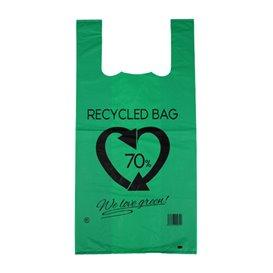 Plastikowa torba na koszulki 70% z Recyklingu Zielony 42x53cm 50µm (1.000 Sztuk)