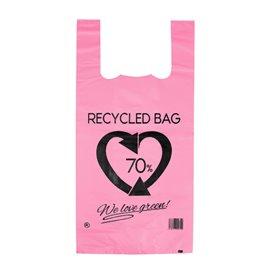 Plastikowa torba na koszulki 70% z Recyklingu Różowy 42x53cm 50µm (1.000 Sztuk)