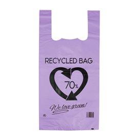 Plastikowa torba na koszulki 70% z Recyklingu Liliowa 42x53cm 50µm (50 Sztuk)