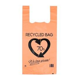 Plastikowa torba na koszulki 70% z Recyklingu Pomarańczowa 42x53cm 50µm (50 Sztuk)