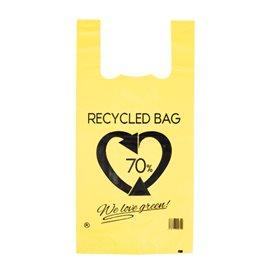 Plastikowa torba na koszulki 70% z Recyklingu Żółty 42x53cm 50µm (1.000 Sztuk)