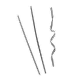 Zamykacz na Torby Metalu Srebrny 9,5cm (1000 Sztuk)