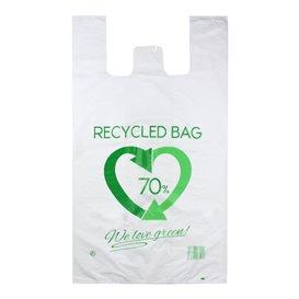 Plastikowa torba na koszulki 70% z Recyklingu 80x90cm 50µm (300 Sztuk)