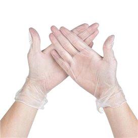 Rękawice Winylowe bez Talk Przezroczyste Rozmiar S (100 Sztuk)
