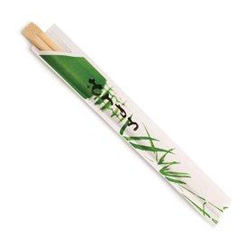 Pałeczki Chińskie Bambusowe sowe w Papierku 200mm (100 Sztuk)