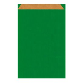 Bolsa de Papel Kraft Verde 26+9x46cm (250 Unidades)