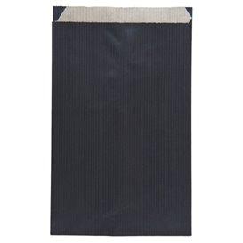 Koperty Papierowe Kraft Czarni 12+5x18cm (125 Sztuk)