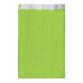 Koperty Papierowe Zielone Anyż 26+9x46cm (125 Sztuk)