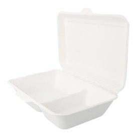 Opakowania MenuBox Trzciny Cukrowej 2C Białe 225x165x64mm (50 Sztuk)