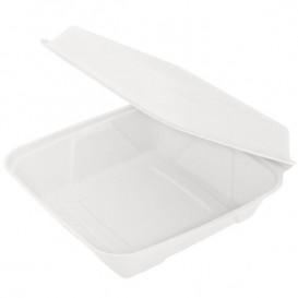 Opakowania MenuBox Trzciny Cukrowej Białe 225x225x75mm (50 Sztuk)