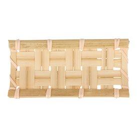 Tacki Finger Food Bambusowe - Opakowanie na wynos Plecionka 10,5x5cm (24 Sztuk)