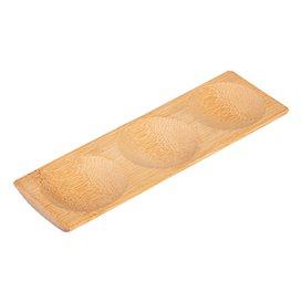 Tacki Finger Food Bambusowe - Opakowanie na wynos 18x5,5x1cm (12 Sztuk)