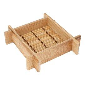 Tacki Finger Food Bambusowe - Opakowanie na wynos 12x12x3cm (20 Sztuk)