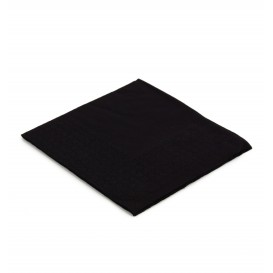 Serwetki Papierowe Koktajl 20x20cm 2C Czarni (6.000 Sztuk)